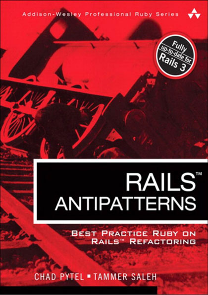 Rails AntiPatterns: Best Practice Ruby on Rails Refactoring by Chad Pytel and Tammer Saleh